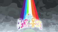 Main ponies release a rainbow of light S9E25