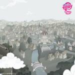 Ponyville in sepia tone Facebook promo