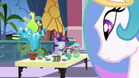 Princess Celestia observing Twilight's isolation S7E1