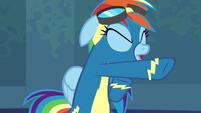 Rainbow Dash punching the air S6E7