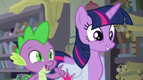 Spike asks if they can keep the book S9E5