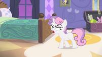 Sweetie walking in her bedroom S4E19