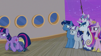 Twilight Sparkle angrily storming away S7E22