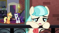 Coco depressed on her balcony S5E16