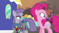 Pinkie Pie licking rock candies S4E18