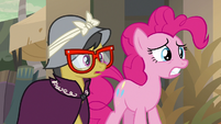 Pinkie and A. K. shocked to see Dr. Caballeron S7E18