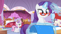 Rarity levitating fabric and scissor S4E19