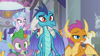 Season 8 promo image - Spike, Ember, and school students
