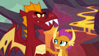 Smolder tells Garble to give Spike a chance S9E9