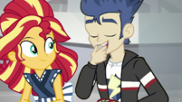 Flash Sentry eating some of Sunset's sushi SS16