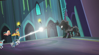 Pillars of Equestria fight the Pony of Shadows S7E26