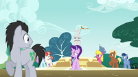 Ponies staring at embarrassed Starlight S6E6