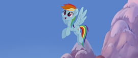 Rainbow Dash finishes clearing the sky MLPTM
