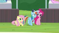 Rainbow Dash looking very nervous S9E15