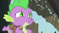 Spike offering help to Rainbow Dash S4E06