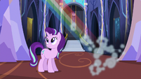 Starlight Glimmer watches Rainbow zoom off S6E21