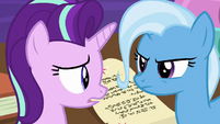 Starlight and Trixie looking concerned S9E24