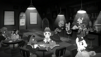 The Seedy Juice Joint in black and white S9E4