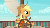 Applejack hears Pinkie Pie laughing S6E22