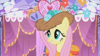 Fluttershy in her custom Gala dress S1E14