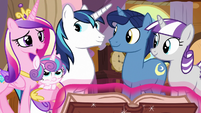 Princess Cadance -definitely don't want to miss that- S7E22