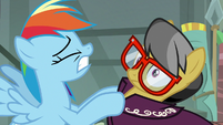 Rainbow Dash shaking A. K. Yearling S7E18