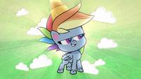 Rainbow Dash standing confidently PLS1E2a