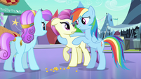 Rainbow Dash without crystal heart S3E1
