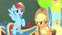 Rainbow and AJ embarrassingly admit the truth MLPS3