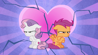 Sweetie Belle and Scootaloo break up S8E6