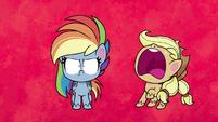 "Applejack ""too many colors in the rainbow!"" PLS1E2b"