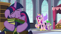 Cadance and Spike worried about Twilight S5E10