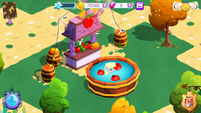 Derpy in apple bobbing pond MLP game