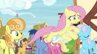 Ponies staring at Angel in Fluttershy's body S9E18