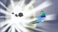 Rainbow gets blown away by lightning S5E5