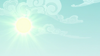 Sun shining bright over Ponyville S6E17