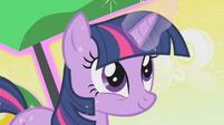 Twilight happily using magic S1E11