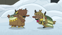 Yak kid 2 holding her stomach in hunger S7E11