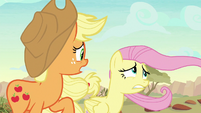 "Applejack ""goin' out as far as we are"" S8E23"