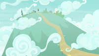 Distance view of Scootaloo's hill S8E20