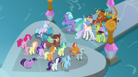 Race leaders appear before the students S8E2