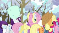 Rainbow Dash's friends walking away S5E5