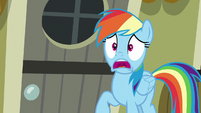 Rainbow Dash gasping with concern S7E18