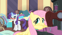 Rarity looks at Fluttershy S4E08