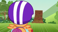 Scootaloo rockets toward the ramp S7E7