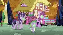 Sombrafied Starlight, Spike, and Berryshine S9E2