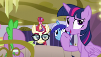 Twilight trying to change the subject S5E12