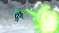 Chrysalis firing a giant magic blast S9E25