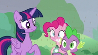 Pinkie Pie appears with Bewitching Bell S9E25