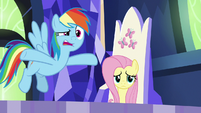 """Rainbow """"all the way back to Equestria"""" S8E24"""